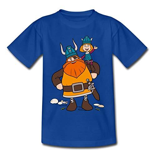 Wickie Und Die Starken Männer Halvar Trägt Wickie Kinder T-Shirt, 122-128, Royalblau