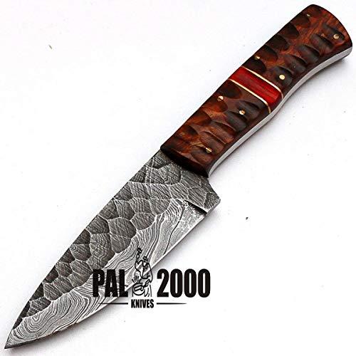 PAL 2000 Damascus Steel Chef Keuken Messen - 4 Inch Ongeveer Volledige Tang Damascus Steel Chef Mes - Beste Handgemaakte Damascus Keuken Mes Met Schede Kopen Met Vertrouwen 8670