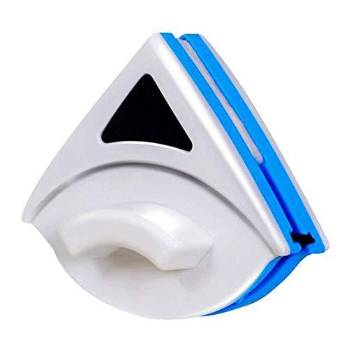 Karrychen Triangular Doppelseiten-Scheibenwischer Magnetische Fensterreinigungsbürste Glasreiniger-Blau + Weiß # 01