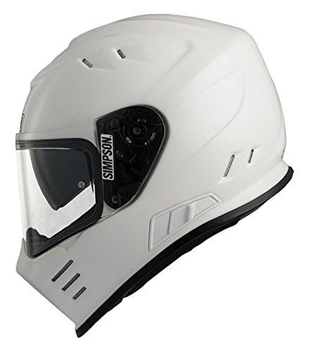 Unbekannt Simpson Helmet Venom 63-XXL, Weiß, Größe XXL