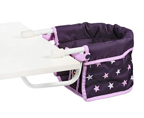 Bayer Chic 2000 735 71 Tischsitz 60 cm, Puppen-Hochstuhl, Stars lila