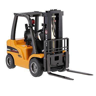 RC Auto kaufen Baufahrzeug Bild 2: s-idee® S1577 Rc Gabelstapler und Kran 8 Kanal 1:10 mit 2,4 GHz Huina 1577*