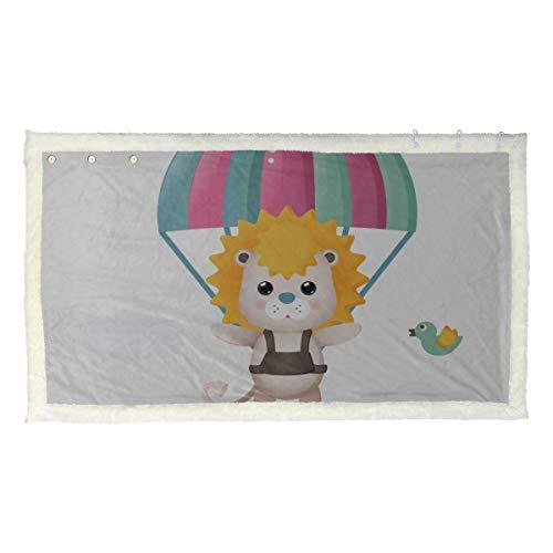Gli animali coraggiosi godono del progetto di paracadute Scialle avvolgente per le donne Stampa scialli e impacchi 53x30 pollici con 3 pulsanti per divano All'aperto Scialli e impacchi da donna Coper