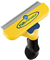 Reduces shedding up to 90 % Stainless steel deShedding edge reaches deep beneath your dog's short topcoat to gently remove undercoat and loose hair Used and recommended by veterinarians and professional groomers FU rejector(TM) button cleans and remo...