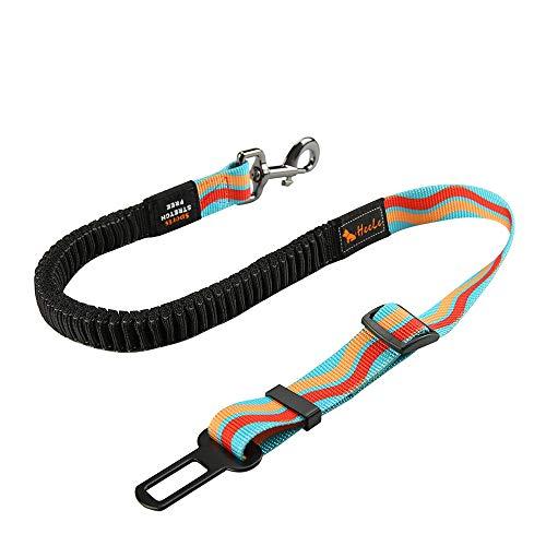 CSYY Hunde Sicherheitsgurt, Universal Hundegurt fürs Auto,Hundesicherheitsgurt mit Elastischer Ruckdämpfung und Starke Karabiner, Einstellbar Hundegurt