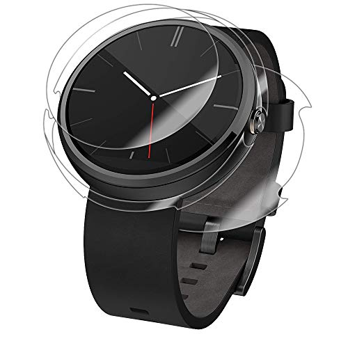 Skinomi Full Body Skin Protector Compatible with Motorola Moto 360 (1st Gen, 2014)(Screen Protector + Back Cover) TechSkin Full Coverage Clear HD Film