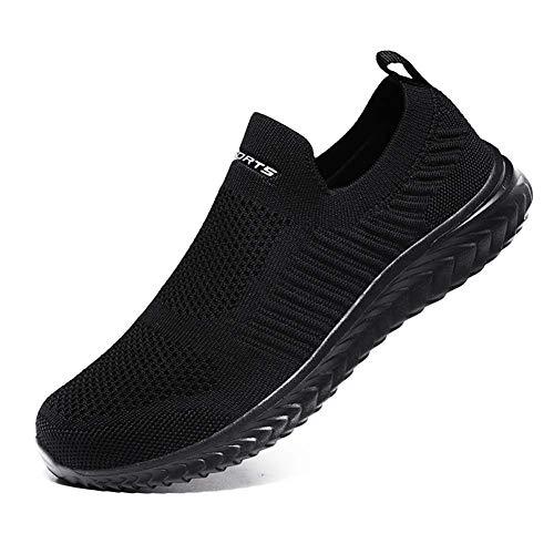 [VITIKE] スニーカー メンズ レディース ナースシューズ スポーツシューズ スリッポン ウォーキングシューズ カジュアルシューズ カップル靴 婦人靴 超軽量 通気 滑り止 男女兼用 高齢者 黒 23.5cm