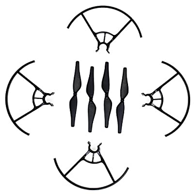 KEESIN Tello Propeller CW CCW Low-Noise Propellers Props Blade and Propeller Prop Guard for DJI Tello Drone Black from Keesin