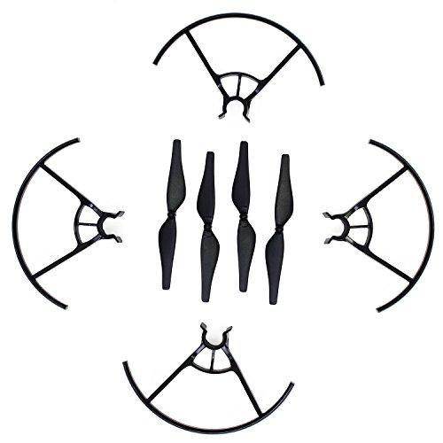 KEESIN Tello Propeller CW CCW Geräuscharme Propeller Requisiten Klinge und Propeller Prop Guard für DJI Tello Drone Schwarz