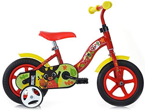 giordanoshop SMB251, Bicicletta 10' Eva Senza Freno Bing Rossa Unisex_Bambini, Bianco, size#1.value