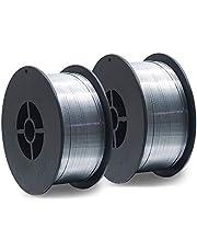 2 stuks D100 MIG MAG vuldraad-rol lasdraad 1 kg / E71T-GS / grootte 0,8 mm / universeel inzetbaar/geen gas / zonder gas