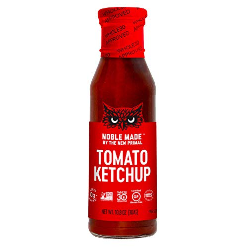 Noble Made by The New Primal Tomato Ketchup, Whole30 Approved, Keto Certified, Non-GMO, Gluten-Free Certified, 10.8 oz, 1 pack bottle