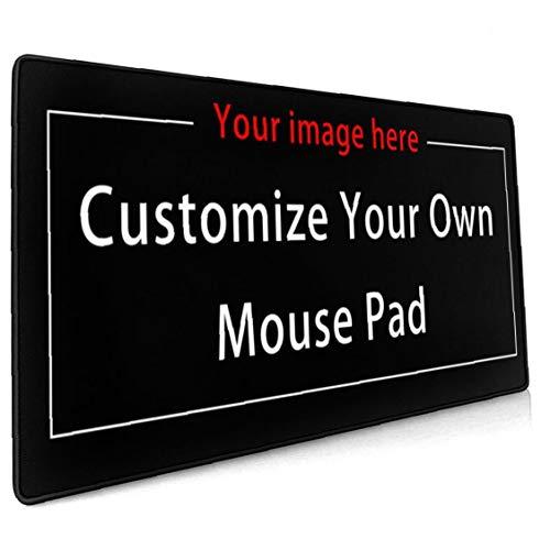Benutzerdefiniert Großes Gaming-Mauspad (40 cm * 90 cm) Computertastatur-Mausmatte Rutschfeste Mousepad-Gummibasis und genähte Kanten für Spieler, Büro, Arbeitszimmer