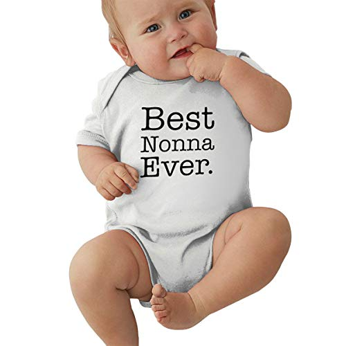 Unisex Baby Best Nonna Ever Bodysuit Onesie Romper Jumpsuit Outfits