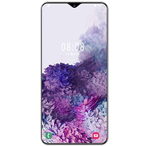 ZXYSR S30U Smartphone Economici, 4 GB + 32 GB Batteria da 4800 mAh 13MP + 24MP Pixel Telefonino Sblocco con Riconoscimento Facciale Doppia SIM, Cellulari Economici,Bianca