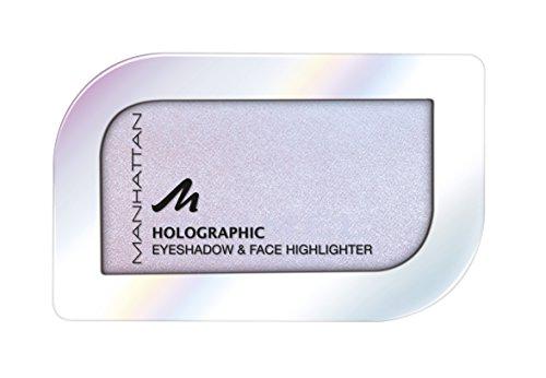 Manhattan Holographic Ombre Eyeshadow, Farbe 001 Lunar Lilac, Lidschatten mit holographischem Effekt, 1er Pack (1 x 4 g)