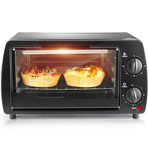 220v / 9L Mini Electric Oven Home Multifunctional Baking Oven Trifle And Bread 800W Mini Oven With Hob And Grill Home Small Baking Cake Pizza Oven For Baking,340 × 220 × 210mm
