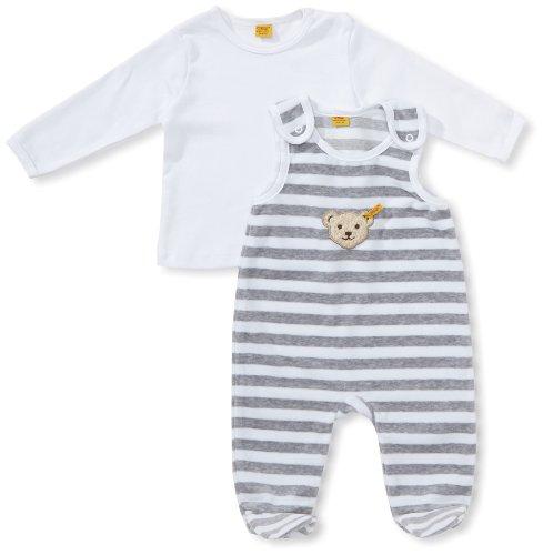 Steiff Baby-Unisex 2855 Bekleidungsset, Grau (Softgrey Melange 8200), 74