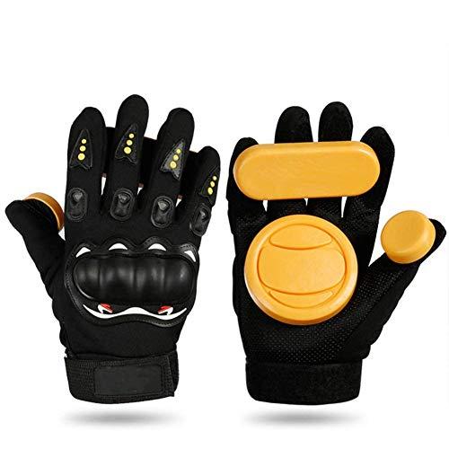 Iycorish Longboard-Handschuhe, zum Basteln, für Skateboards, mit Schaumstoff-Schutz, für Skateboards, mit Schiebescheibe