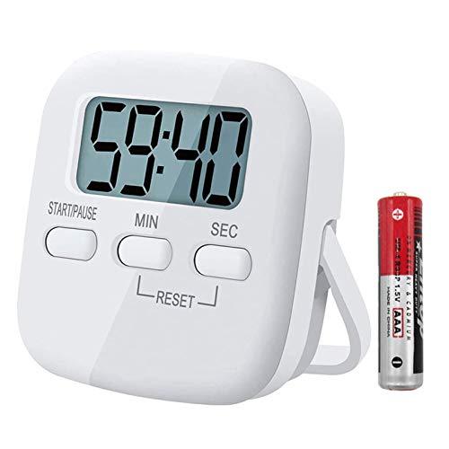 Digitaler Küchentimer Magnetisch Eieruhr Timer Digital Küchenuhr Stoppuhr Countdown Count up, Laut Ton Küchenwecker Zeitmesser Küche Kurzzeitwecker mit LCD zum Kochen Backen Sport Lernen, mit Batterie