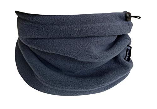 Hilltop Polar Multifunktionstuch/Motorradmaske/Skimaske/Kälteschutz/Gesichtsmaske/Halswärmer/Polar Halstuch mit Kordelzug 100% Fleece, Design/Farbe:grau