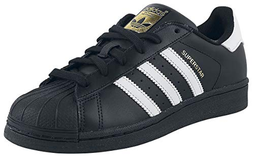 adidas Originals Superstar Foundation Herren Sneakers, B27140, Schwarz(Core Black/Core Black/Core Black), EU 42