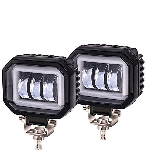 LSVJS NMM Universal 2 Stück 30 W Motorradscheinwerfer LED-Scheinwerfer, Motorrad Fahren Nebelscheinwerfer Zusatzlampe Tagfahrlicht 3500 lm für LKW, 4 x 4, SUV, ATV, Motorrad, Traktor
