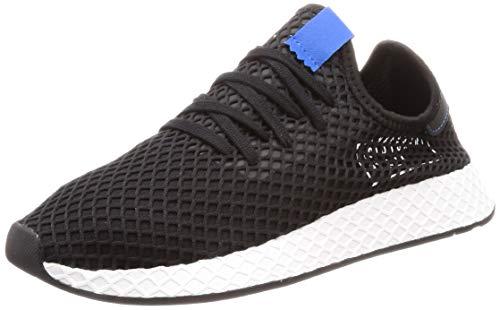 adidas Originals Deerupt, Core Black-Core Black-Bluebird, 6,5