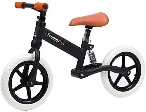 Amortiguador De Bicicletas De Balance De 12 Pulgadas Al Aire Libre, Sin Pedalear Bicicleta De Entrenamiento De Bicicleta De Balance De Balance, Scooter, Liviano De 2 A 6 Años De Edad, Uti(Color:Negro)
