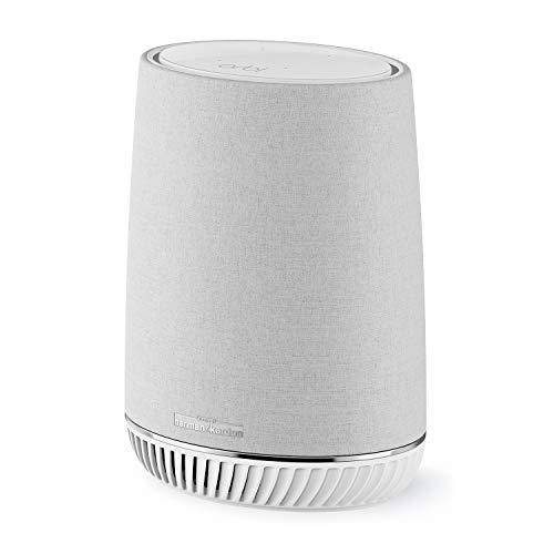 NETGEAR RBS40V-100EUS Orbi Home Mesh Wi-Fi, Expansion, Smart Speaker, Amazon Alexa Built-In, White