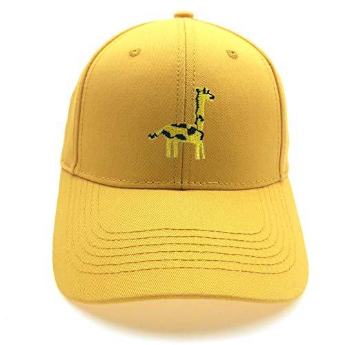 Gorra de Béisbol Hombre Mujer Bordado de Cervatillo Ponytail Ladies Tennis Golf Pelota Sombrero (Color : Amarillo, Size : Adjustable)