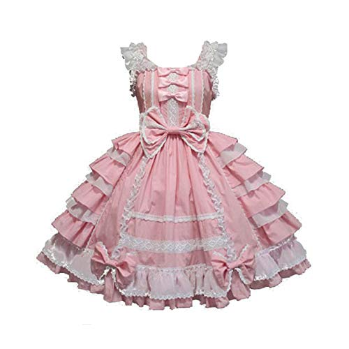 Unicon Baby Anime Lolita Kleid Gothic Damen Puppenkostüm Halloween Fancy Outfit Cosplay Kostüme Gr. Medium, rose