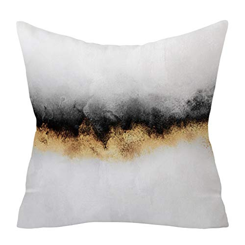 HEVÜY 45X45 cm grau Kissenbezug Kissenhülle Quadrat Couch Kissen Zierkissenbezug Home Decor Weich Seitenschläferkissen Bettwäsche Für Sofa Kaffeestube