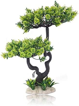 HITOP Pets Plastic Plants for Fish Tank Decorations Unique Artificial Aquarium Decor Pine Tree product image