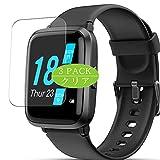 VacFun 3 Piezas Claro Protector de Pantalla, compatible con YONMIG FITFORT LIFEBEE Lintelek BYTTRON YAMAY ID205U 1.3' smartwatch Smart Watch, Screen Protector(Not Cristal Templado)