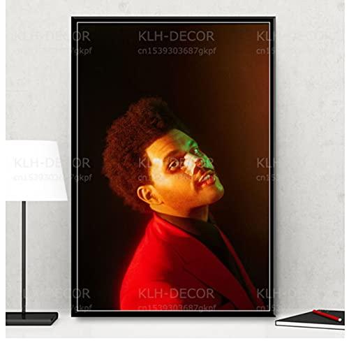 liuyushuo Poster The Weeknd Poster Pop Funk Music Singer Star After Hours Wall Art Print Imagen...