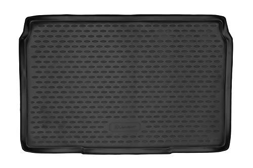 Element EXP.ELEMENT02505B11 Tapis de Coffre Bac de Protection Antiderapant en Caoutchouc sur Mesure Opel Corsa F 2019, Noir, Ajustement Laser personnalisé