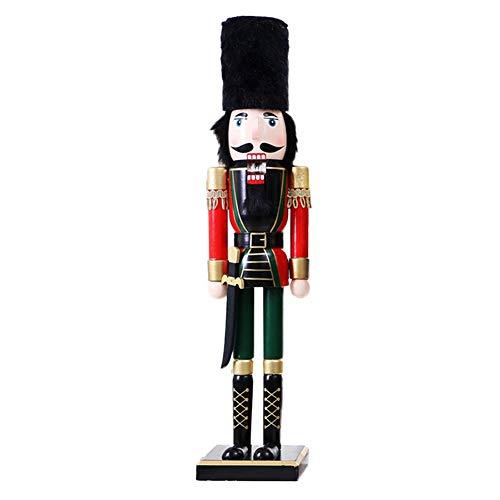 Fancylande Solda, notenkraker, 60 cm, grote pop Snutcrackervorm Christma, prins, notenkraker, kerstdecoratie handgemaakt van hout, notenkraker Classic Special Rational