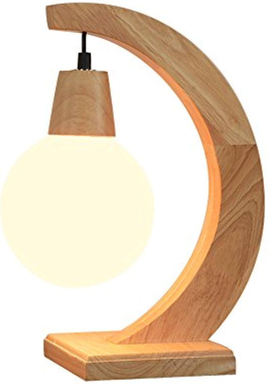 Moderne Minimalistische Tischlampe Kreative Crescent Form Holz Schreibtischlampe Milchglas Lampe Nachttischlampe Leseleuchte Für Hotel Schlafzimmer Wohnzimmer Studie, Φ16cm H40cm E27
