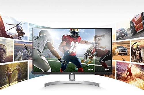 LG 27UN83A 68,58 cm (27 Zoll) UHD 4K IPS Monitor (5ms, AMD FreeSync, VESA Display HDR 400, USB-C, 3840 x 2160, 99% sRGB-Abdeckung, verstellbar), Rückseite weiß, Standfuß silber