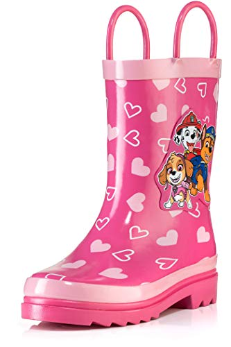 Kidorable Girls' Lotus Rain Boot, Pink, 6 M US Toddler