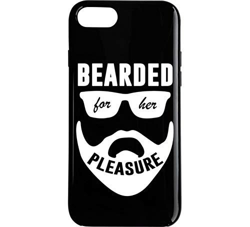 Bearded for Her Pleasure Cool Funny Beard Lover Sexual Humor Meme Phone Case Black