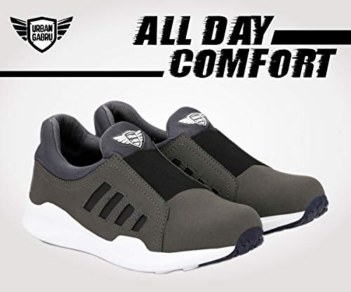Product Image 3: urbangabru Men's Grey Casual Shoes, Sneakers Without Laces