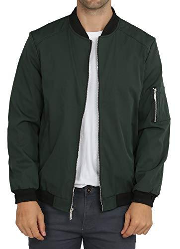 WULFUL Mens Casual Lightweight Jacket Softshell Flight Bomber Jacket Varsity Windbreaker