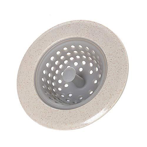 Filter voor vaatwasser, anti-verstopping voor het deksel van de afvoer van de spoelbak, filter voor spoelbak en afvoer, geschikt in de huishoudkeuken, diameter 11 cm. Red