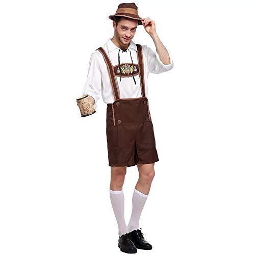 thematys® Oktoberfest Traje Tradicional Conjunto - Traje de Conjunto para los Hombres Carnaval y Oktoberfest - 3 tamaños Diferentes (XXL)