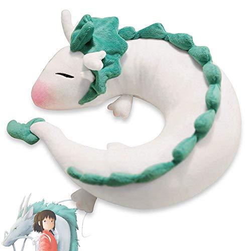 Tieesa White Dragon U Pillow-Anime Cute White Dragon Neck Pillow U-Shaped Travel Pillow Lovely Dragon Soft Stuffed Plush Toy for Children, Lovers, Friends