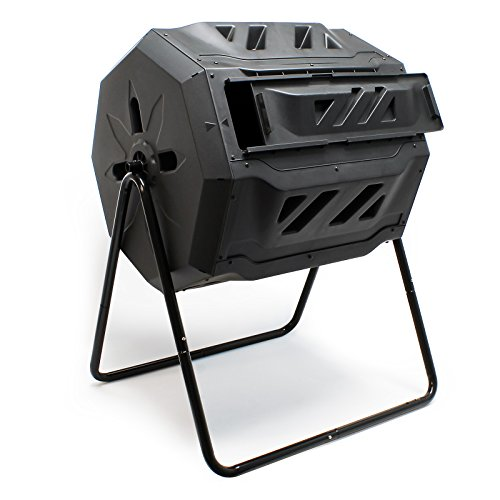 Tonneau de compostage Composteur à Tambour Capacité 160 litres Rotatif Compost décomposition