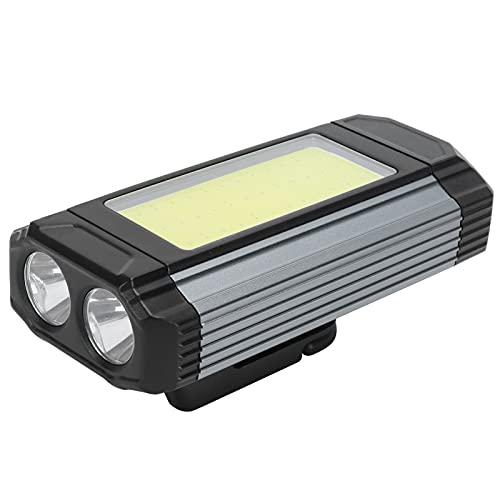 Surebuy Luz de Trabajo, Puerto de Salida USB Luz LED a Prueba de Lluvia Práctica y Duradera Varios Modos de iluminación con Gancho para Senderismo y montañismo