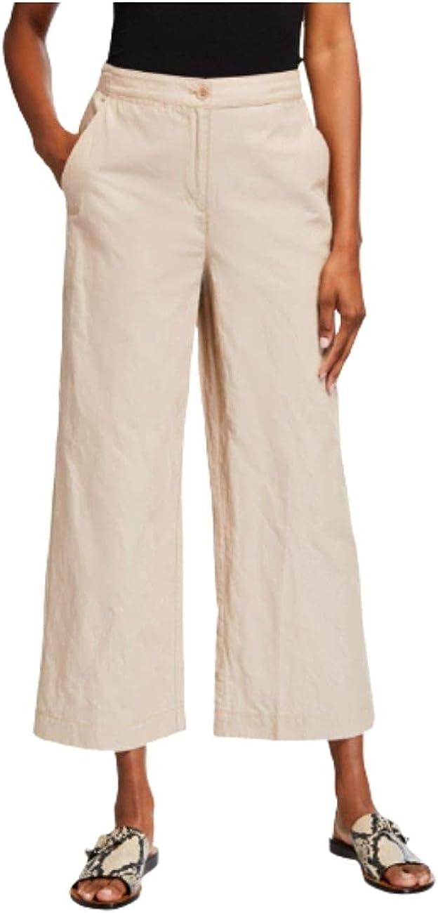 Eileen Fisher Wide-Leg Ankle Pants Bramble Size 10